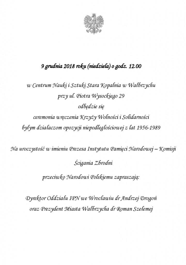 Zaproszenie_Wałbrzych_9_grudnia